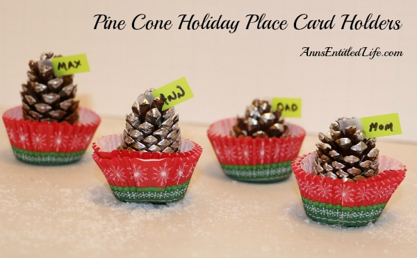 Pine Cone Holiday Place Card Holders