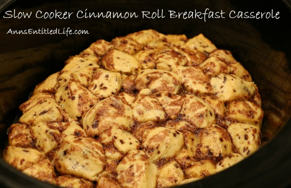 Slow Cooker Cinnamon Roll Breakfast Casserole. A melt in your mouth cinnamon roll casserole made in a slow cooker. This is one delicious breakfast that your entire family will devour!