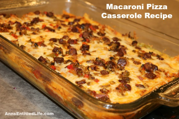 Macaroni Pizza Casserole Recipe. This baked Macaroni Pizza Casserole Recipe is an easy to make, crowd-pleasing pizza-tasting casserole that is the ultimate in comfort food. Your whole family will love it!