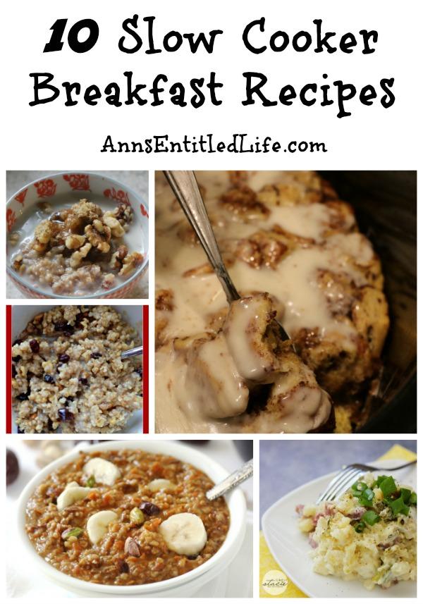 10 Slow Cooker Breakfast Recipes
