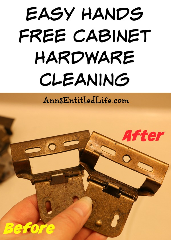 Easy Hands Free Cabinet Hardware Cleaning. How to clean your cabinet and door hardware in under 3 minutes without getting your hands dirty!