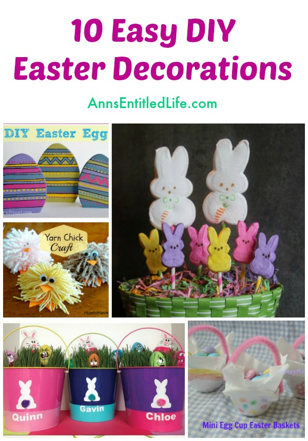 10 Easy DIY Easter Decorations. Looking For Easy Easter Decor That You Can  Make Yourself