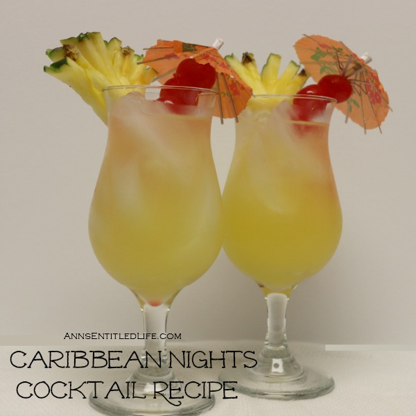 Caribbean Nights Cocktail Recipe. Smooth, tropical, delicious. This Caribbean Nights Cocktail Recipe will have you thinking of warm breezes on a sandy beach every time, anywhere.