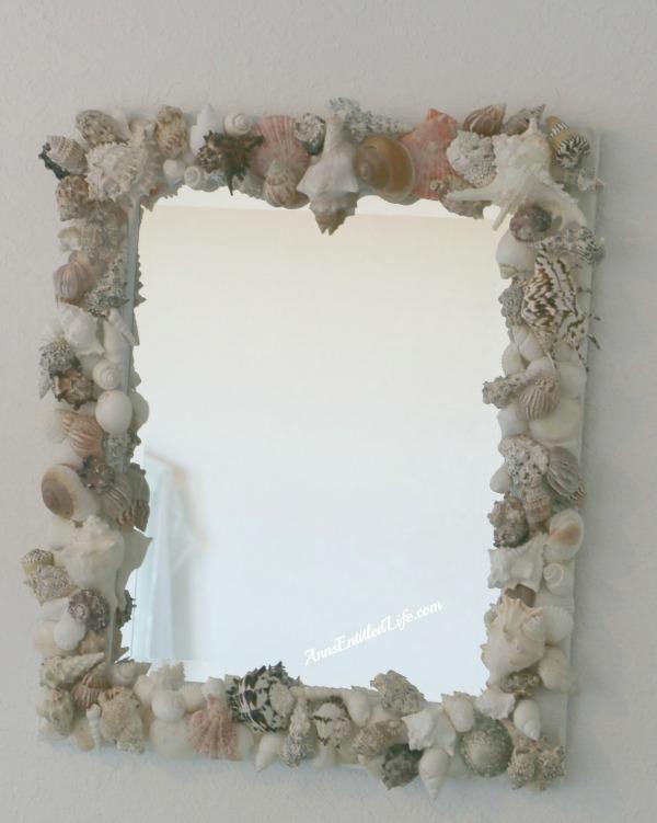 Seashell wall mirror