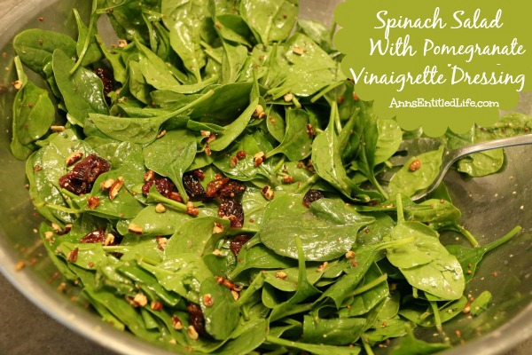 Spinach Salad with Pomegranate Vinaigrette Dressing Recipe
