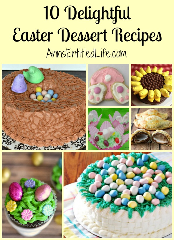 10 Delightful Easter Dessert Recipes. These Easter dessert recipes are fantastic! They are wonderful in their own way: from breathtakingly  beautiful, to sweet and charming, to just plain adorable. If you are looking for a stunning Easter Dessert recipe, try one of these wonderful Easter Dessert Recipes.