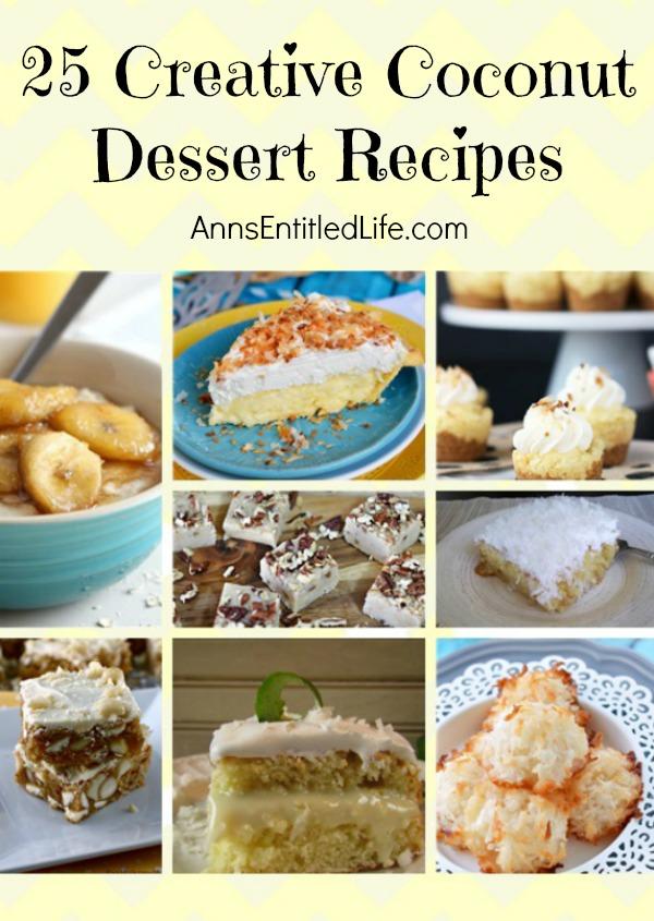 25 Creative Coconut Dessert Recipes