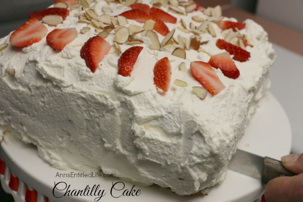 Chantilly Cake Recipe. Chantilly Cake Recipe. A very rich, dense, yet moist and sweet Chantilly Cake. Perfect for a special occasion, holiday treat, or simply an after dinner dessert, this Chantilly Cake Recipe will delight your taste buds.