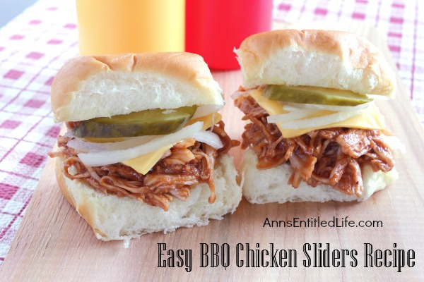Easy BBQ Chicken Sliders Recipe. Looking for an easy lunch or dinner idea? Try these great tasting barbecue chicken sliders. Fast, fun and simple to make, your entire family will love them!