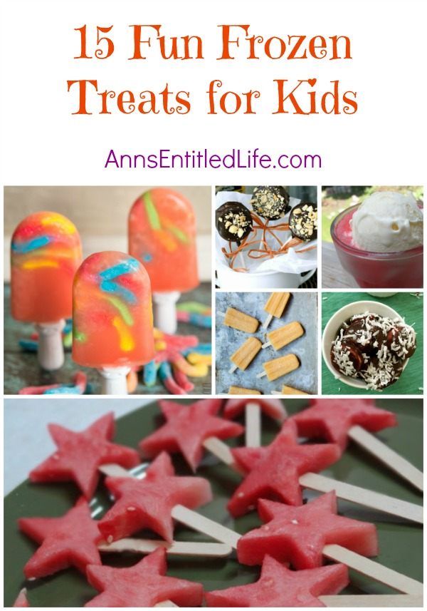 15 Fun Frozen Treats for Kids; I scream, you scream, we all scream for frozen, delicious treats on a hot summer day! Try one of these tasty frozen sweets today; there's something on this list to please the kid in everyone.