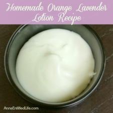 Homemade Orange Lavender Lotion Recipe