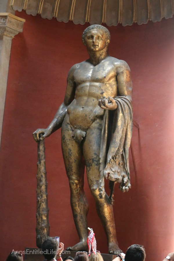 Bronze statue at the Vatican