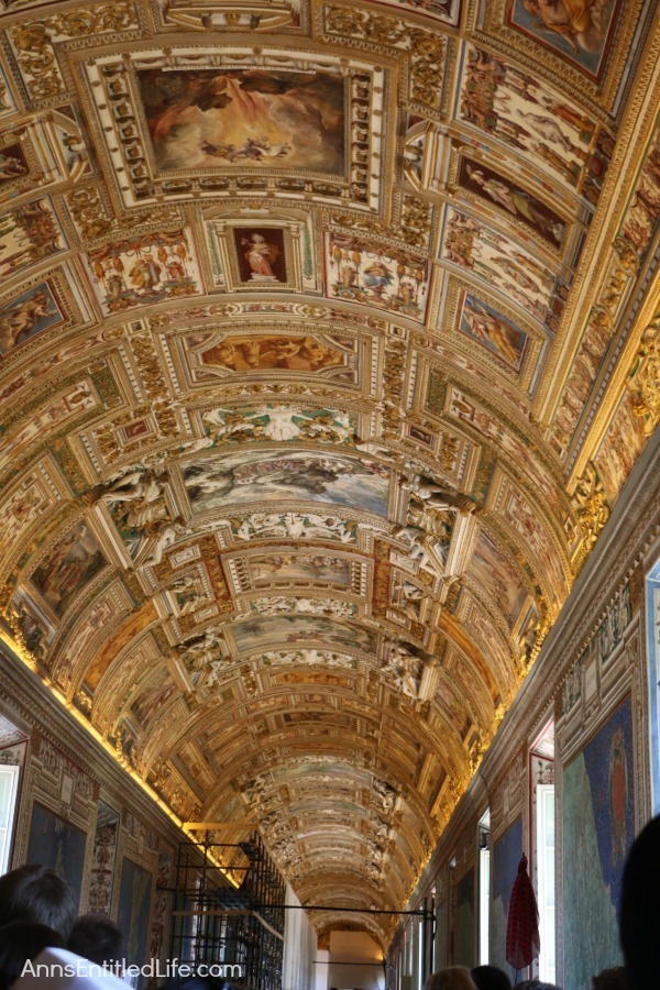 The Gallery of Maps ceiling at the Vatican