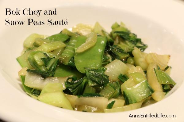 Bok Choy and Snow Peas Sauté
