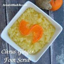How To Make Citrus Ginger Foot Scrub