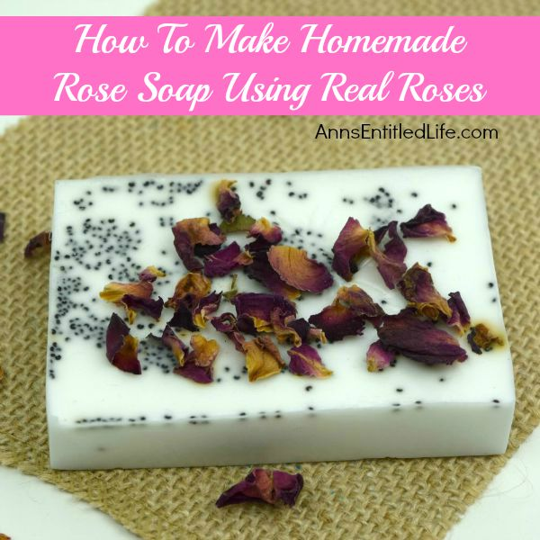 Rose Petal Soap Recipe; How To Make Homemade Rose Soap Using Real Roses. Making homemade soap simpler than you would think. You control the ingredients, so you know exactly what is in the soap you are making and using. This homemade rose soap recipe incorporates some of the garden's most beautiful flowers; Roses.