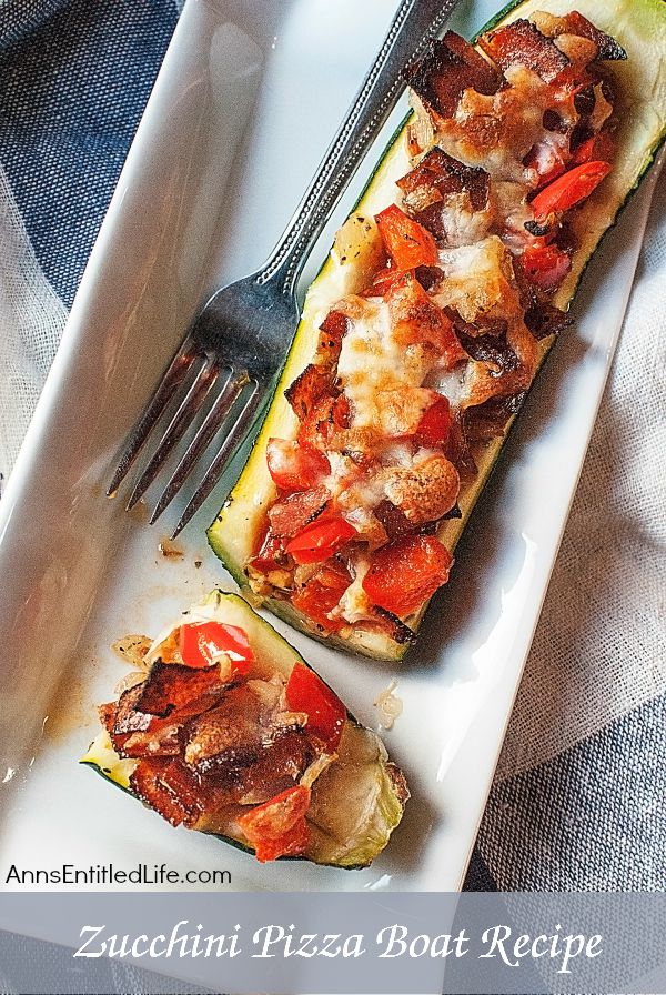 Zucchini Pizza Boats Recipe. Enjoy your pizza in a healthier new way by using a zucchini boat