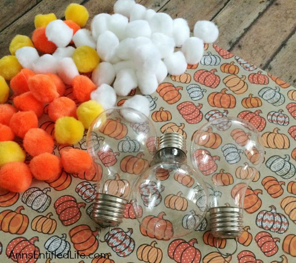 Candy Corn Light Bulb Craft