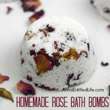 Homemade Rose Bath Bombs