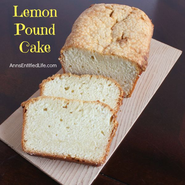 Lemon Pound Cake Recipe; this easy to make lemon pound cake recipe is great for eating fresh from the oven or freezing for later.  Moist, delicious, and oh so good for breakfast, dessert or a snack, this is one terrific lemon pound cake recipe!