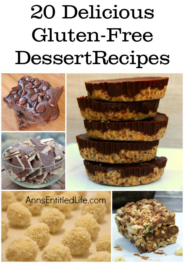 20 Delicious Gluten-Free Dessert Recipes; Gluten-free doesn't mean the end of dessert! These 20 Delicious Gluten-Free Dessert Recipes are delightful delicacies that are simply fabulous after lunch or dinner, or as an evening snack. If gluten-free is part of your daily diet try one of these luscious goodies! It will make your meal!