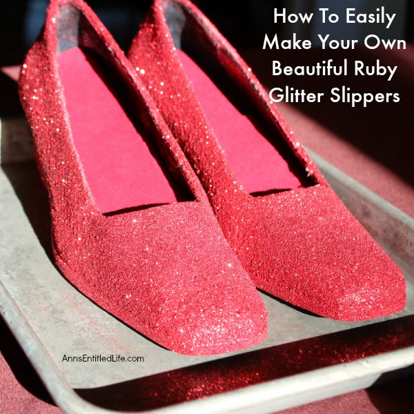 How to easily make your own beautiful ruby glitter slippers for How to make your own spray paint