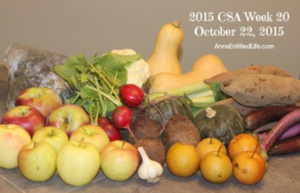 2015 CSA Share Week 20