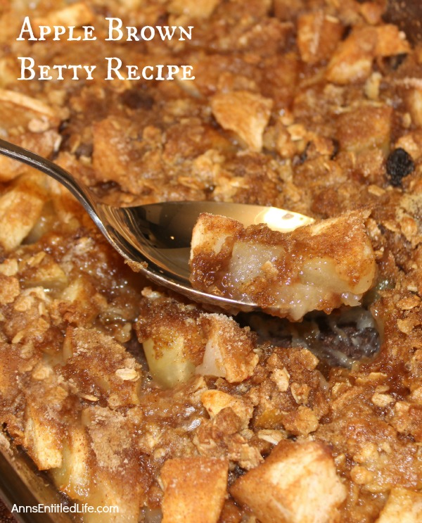 Apple Brown Betty Recipe. A totally delicious ending to any meal, a great nighttime snack, or a breakfast treat, this old fashioned, sweet and tasty Apple Brown Betty recipe is easy to make and a wonderful use of fresh apples.
