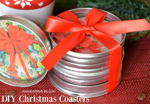 DIY Christmas Coasters. These DIY Christmas Coasters are cute and quite simple to make. This is a fantastic project to reuse old Christmas cards and to make a wonderful homemade gift for friends and family. These easy to make Christmas Coasters are unique, but usable. Plan ahead though because they do take time to cure.