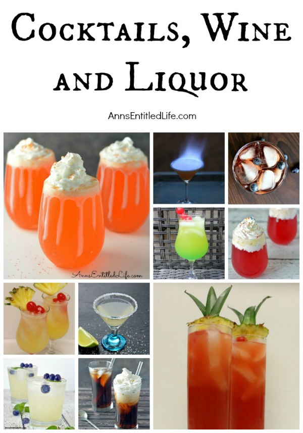 AnnsEntitledLife.com has hundreds of cocktail recipes, wine reviews and liquor recommendations! For a great weekend libation or a party beverage, this is the place to find your next great adult beverage!