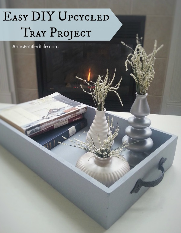 Easy DIY Upcycled Tray Project; Simply, quickly and inexpensively transform an old (or new) tray into a fabulous, multi-use, accent decor piece with these simple step by step instructions.