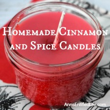Homemade Cinnamon and Spice Candles