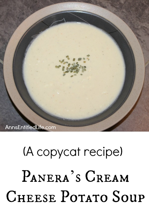 This copycat Panera Cream Cheese Soup Recipe is simply outstanding. Easy to make, this recipe can be doubled or tripled, and freezes beautifully. If you are looking for an excellent potato soup recipe, make this - it is fantastic!
