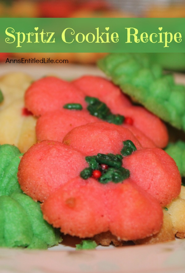 Spritz Cookie Recipe; This spritz cookie recipe yields wonderful, buttery cookies! They freeze VERY well, and are holiday favorites