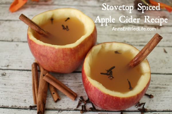 Stovetop Spiced Apple Cider Recipe. The delicious taste and smells of homemade apple cider! There is nothing quite like it for entertaining during the holidays, enjoying a mug on a chilly day, or sitting in front of the fire with family and friends. This simple to make Stovetop Spiced Apple Cider Recipe is aromatic and oh so tasty! Your whole family will enjoy it.