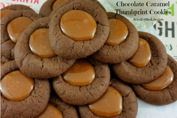 Chocolate Caramel Thumbprint Cookies Recipe. If you like thumbprint cookies, you will love this delicious update to that old classic recipe. These chocolate caramel thumbprint cookies combine the rich taste of chocolate with the smooth taste of caramel for a truly decadent cookie!