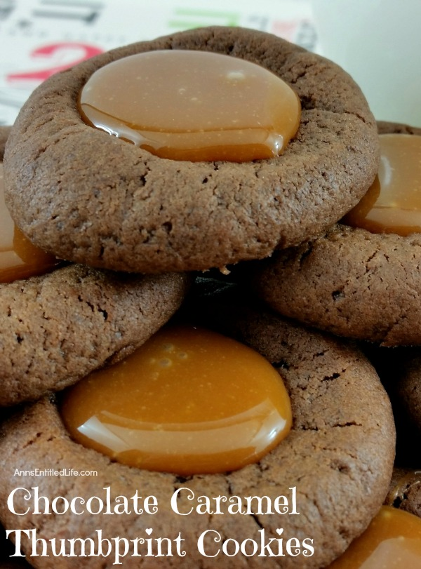 ... chocolate caramel thumbprint cookies combine the rich taste of