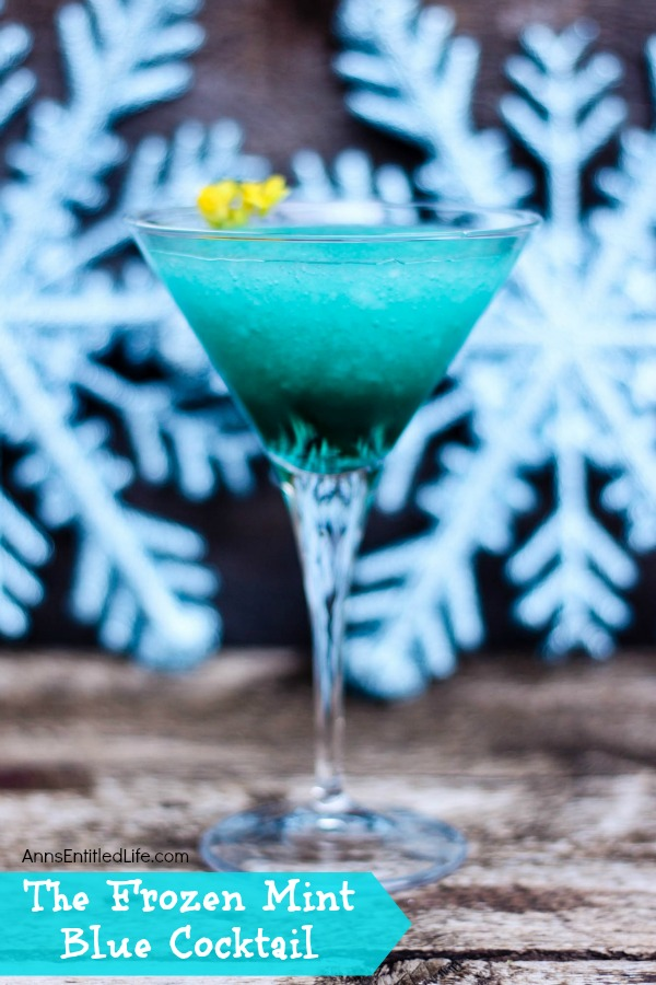 The Frozen Mint Blue Cocktail Recipe. This beautiful beverage combines the cool, refreshing taste of peppermint, and the sweet taste of agave for a marvelous holiday or anytime cocktail. The next time you want to enjoy an invigorating adult libation, reach for a Frozen Mint Blue Cocktail.