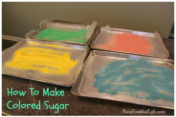 how to make purple colored sugar