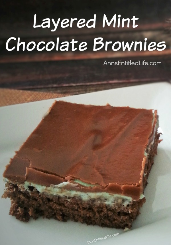 Layered Mint Chocolate Brownies Recipe. These amazing, triple layered mint chocolate brownies are simply delicious. Your friends and family will rave about these phenomenal brownies as they clean out the pan!