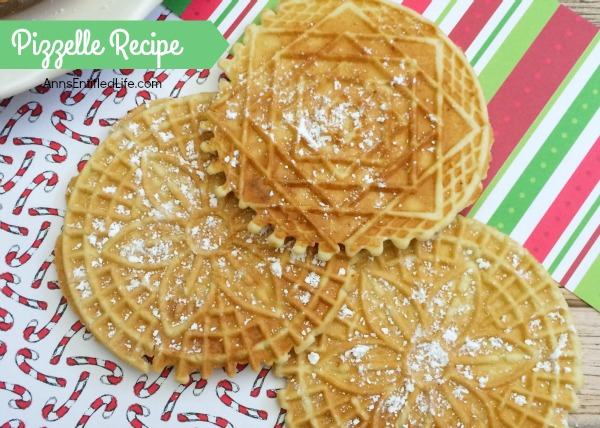 Pizzelle Recipe. Pizzelles are a delicious Italian wafer cookie that my grandmother made every year for Christmas! Light and crispy, these buttery vanilla pizzelles are great for the holidays, dessert, or anytime. Your family will gobble these right up.