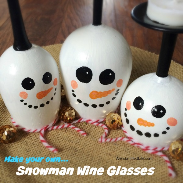 DIY Wine Glass Snowman. Make your own adorable Wine Glass Snowman. This step by step tutorial will show you how to easily make wine glass snowman which are perfect for a centerpiece, mantel decor or table decorations through the winter season. If you are looking for a cute winter craft project, this is it!