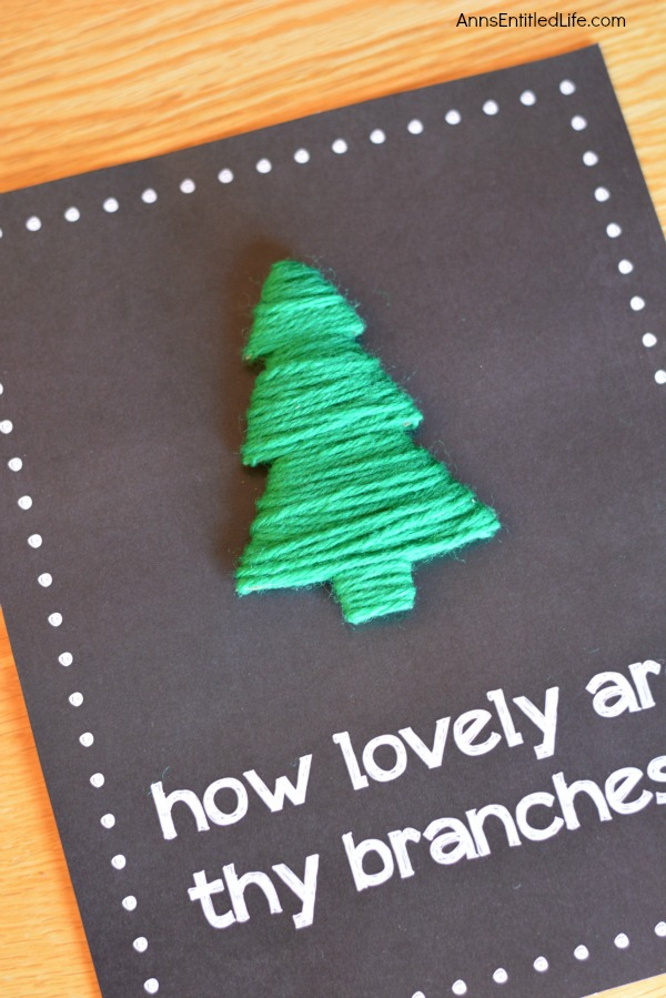 O Christmas Tree Wall Hanging. An adorable piece of wall art for the holidays. This O Christmas Tree wall hanging is simple and inexpensive to make. Give it as a gift or display it in your own home this holiday season.