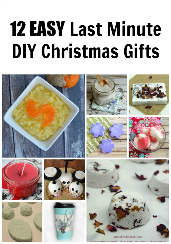 12 EASY Last Minute DIY Christmas Gifts. Looking for a last minute Christmas present? Why not make it yourself? The DIY beauty products and crafts are all simple to make, and something you would really be pleased to gift someone! If you make a few extra to keep for yourself.... well, who will know?