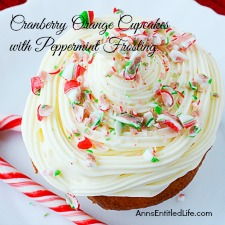 Cranberry Orange Cupcakes with Peppermint Frosting