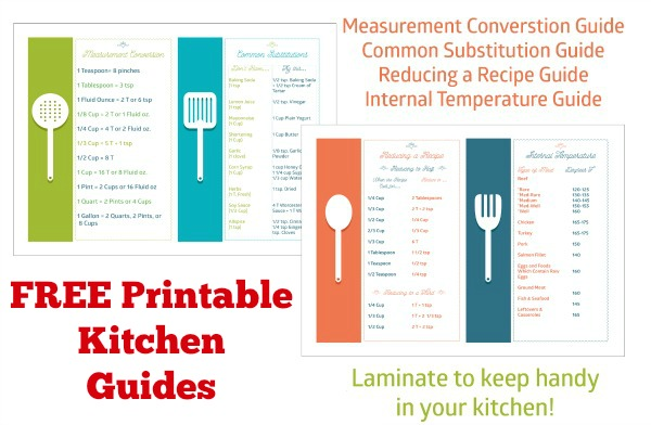 Printable Cooking And Baking Guides