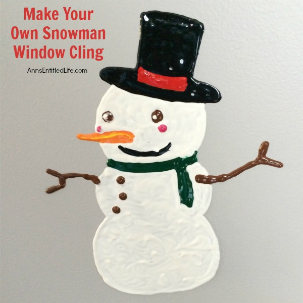 Make Your Own Snowman Window Cling. Looking for a fun project to make with your children or grandchildren this winter? How about window clings!? Make your own snowman window clings using these easy step by step directions. This is a great activity to beat winter boredom, when someone has the sniffles, or to just decorate your windows for winter!