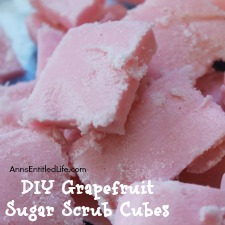 DIY Grapefruit Sugar Scrub Cubes
