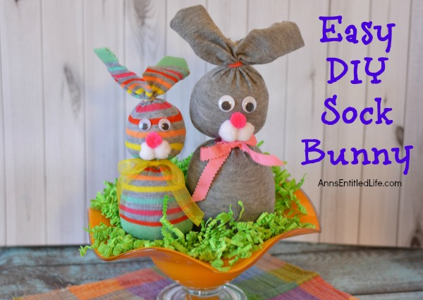 No sew sock bunny for Diy easter decorations for the home