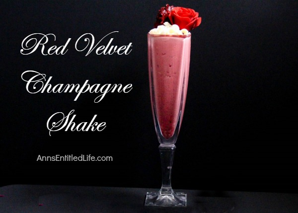 Red Velvet Champagne Shake Recipe. A delightfully decadent, truly delicious adult milkshake, this Red Velvet Champagne Shake is perfect for a special occasion, weekends by the fire, or simply to enjoy with a special someone anytime!